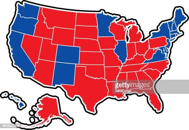米国の選挙の概要 - 選挙人団点のイラスト素材/クリップアート素材/マンガ素材/アイコン素材