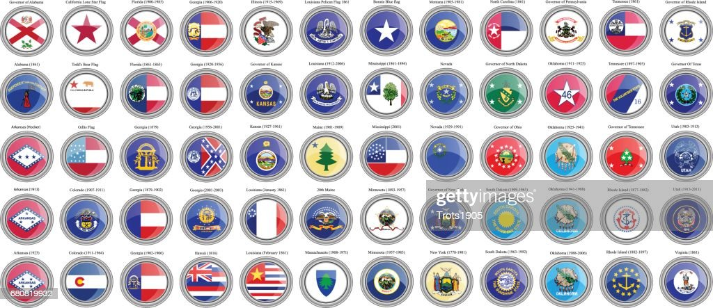 States of the USA flags.