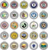 States of USA seals.