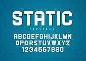 Static vector decorative bold font design, alphabet, typeface, t