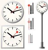 Station clock/wall clock