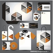 Stationery design set in vector format.