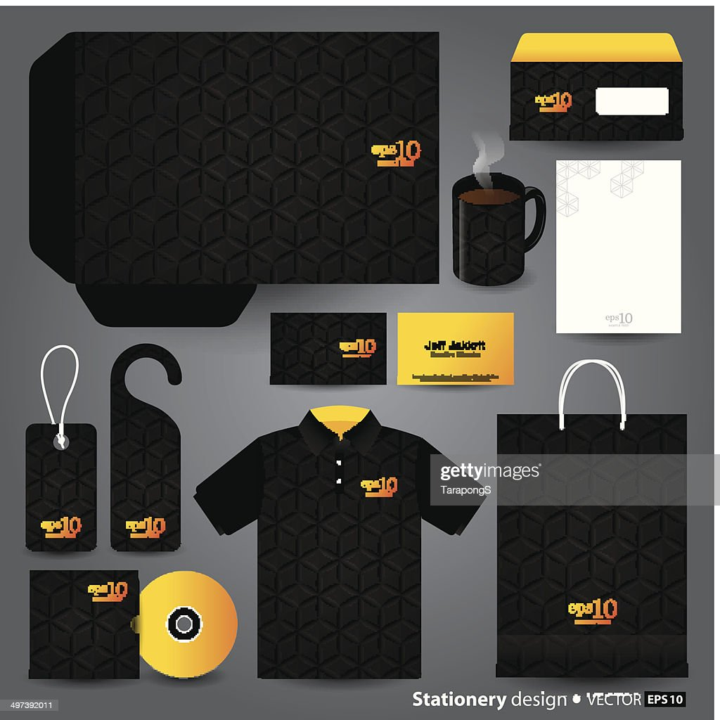 Stationery design set.