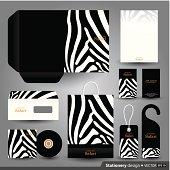 Stationery set design, Stationery template, Corporate identity design.