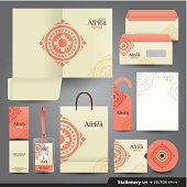 Stationery set design, Stationery template, Corporate identity design.