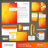 Stationery set design, Stationery template