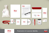 Stationery template mockup. Documentation for business.
