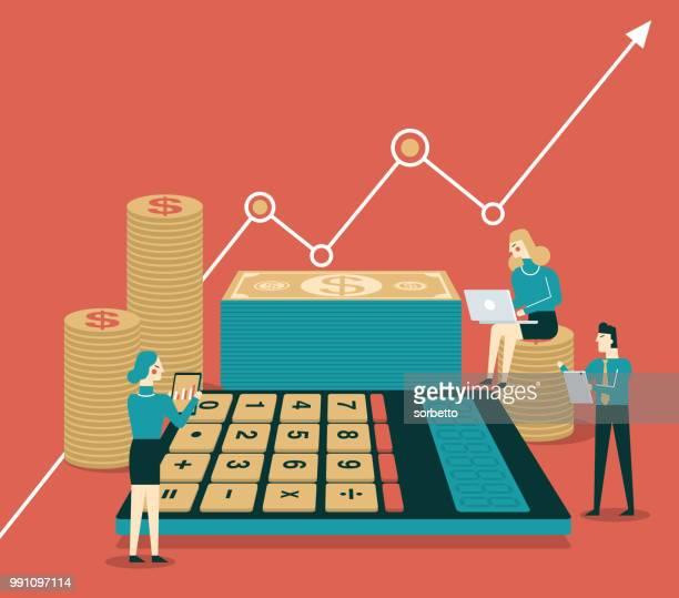 statistic report - bonding stock illustrations