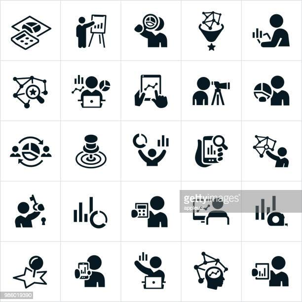 statistiker icons - analysieren stock-grafiken, -clipart, -cartoons und -symbole