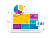 Statistics Data and Analytics Software Laptop Application