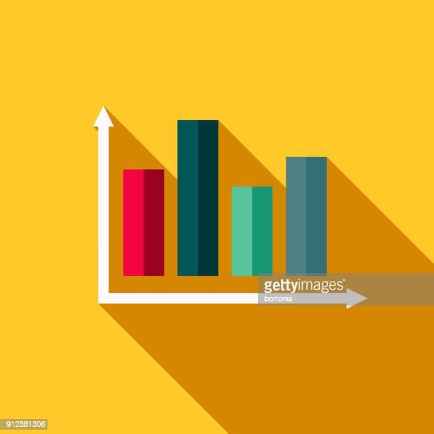 statistiken, flaches design fitness & übung symbol - balkendiagramm stock-grafiken, -clipart, -cartoons und -symbole