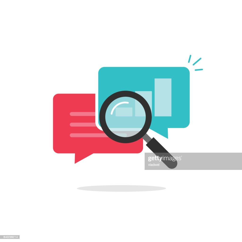 Statistics research icon vector, analysis data, analyzing chat information, explore