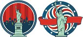 Statue of Liberty American Ribbon