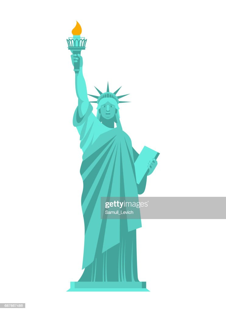 Statue of Liberty isolated. National symbol of America. US Landmark