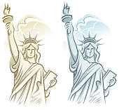 drawing vector statue liberty symbolthis file