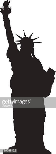 自由の女神像 - 像点のイラスト素材/クリップアート素材/マンガ素材/アイコン素材
