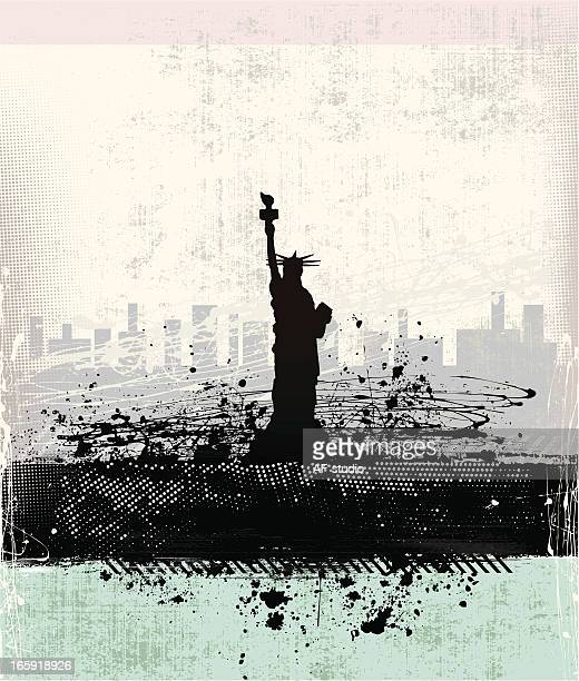 statue of liberty - d day stock illustrations