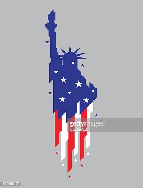 ilustrações, clipart, desenhos animados e ícones de estátua da liberdade - tocha de fogo