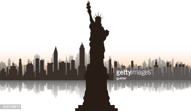 ilustraciones, imágenes clip art, dibujos animados e iconos de stock de estatua de la libertad  - estatua de la libertad