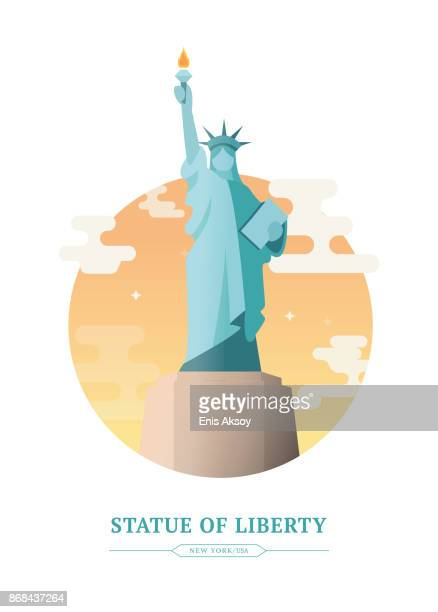 illustrations, cliparts, dessins animés et icônes de statue de la liberté - new york city