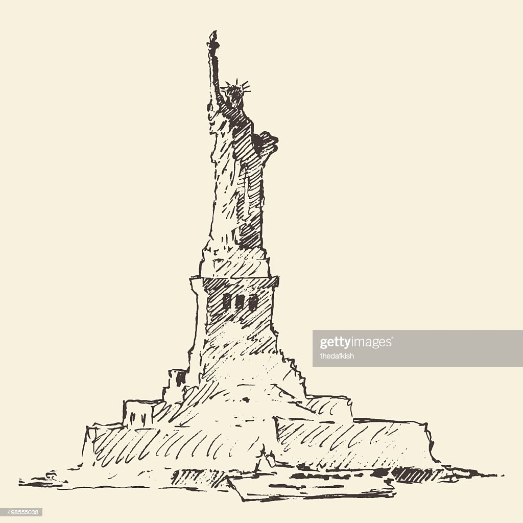 Statue of Liberty vector illustration hand drawn