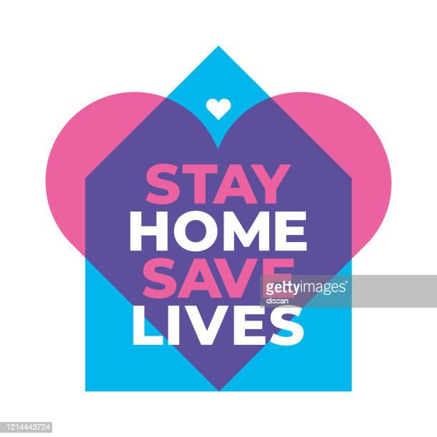 i stay at home awareness social media campaign and coronavirus prevention. - activist icon stock illustrations