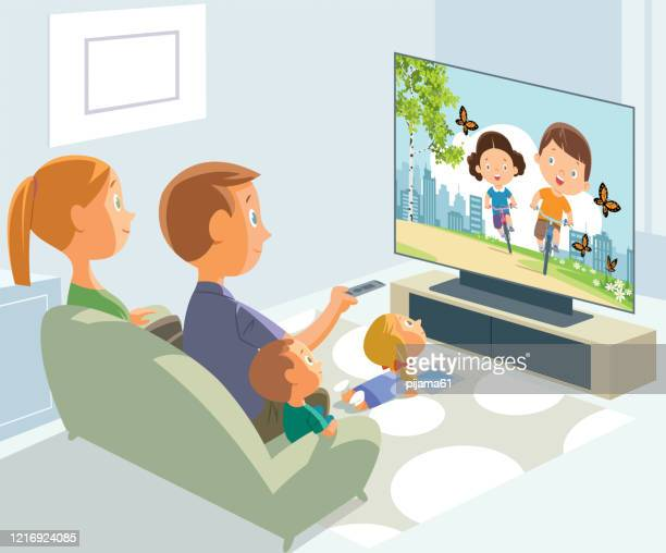 stay at home. parents and children in quarantine - clip art family stock illustrations