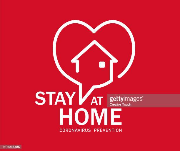 stay at home symbol - protection stock illustrations