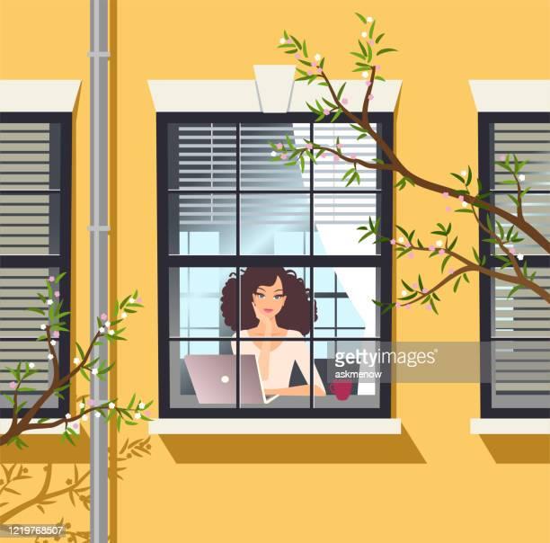 家にいる - 退屈点のイラスト素材/クリップアート素材/マンガ素材/アイコン素材