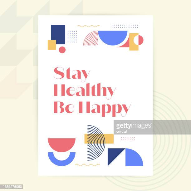 stay healthy be happy. modern design brochure, poster, flyer, presentation template vector illustration - draft sports stock illustrations
