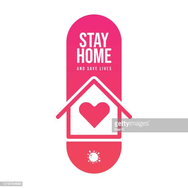 ホームコンセプトを維持します。武漢コロナウイルス流行インフルエンザはパンデミックコンセプトバナーフラットスタイルイラストとして危険なインフルエンザ株ケースとして、covid-19ス� - 主婦業点のイラスト素材/クリップアート素材/マンガ素材/アイコン素材