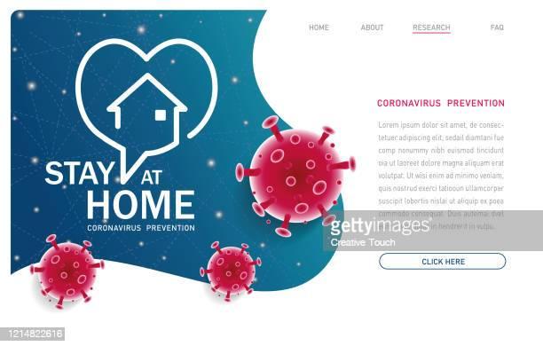 ステイ ホーム - パンデミック - ワールド・ワイド・ウェブ点のイラスト素材/クリップアート素材/マンガ素材/アイコン素材
