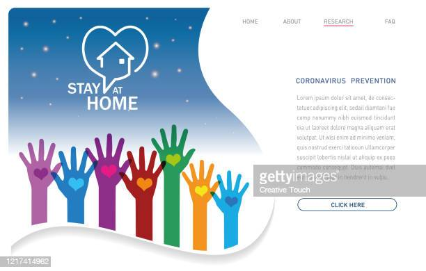 stay home - pandemic - illness prevention stock illustrations