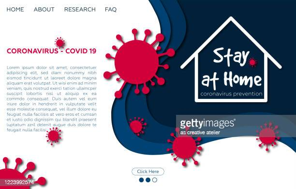 stay home - pandemic web banner - illness prevention stock illustrations