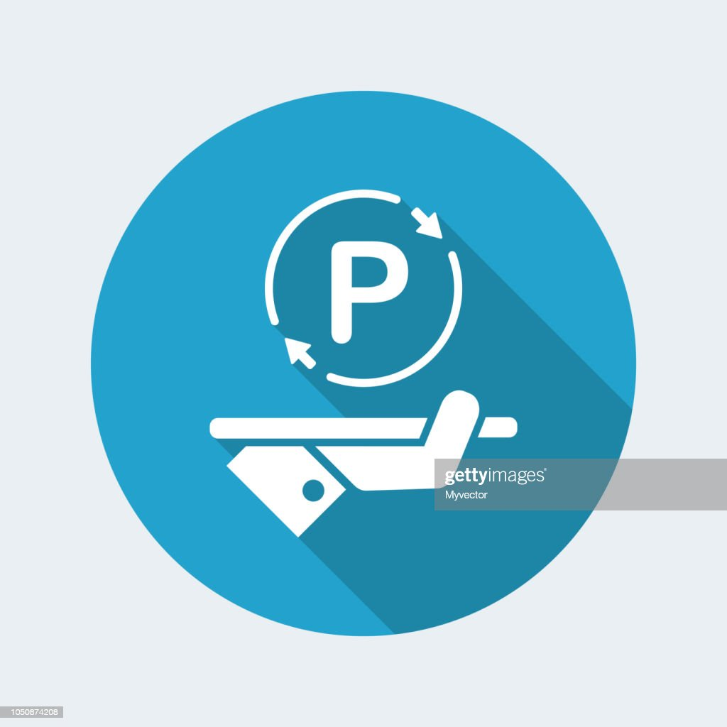 Steady parking service area - Vector web icon