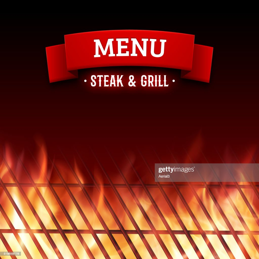 Steak and grill house menu. Vector background