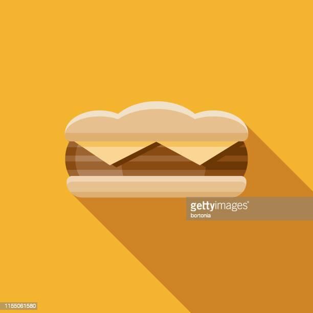 ステーキサンドイッチアイコン - ローストビーフ点のイラスト素材/クリップアート素材/マンガ素材/アイコン素材