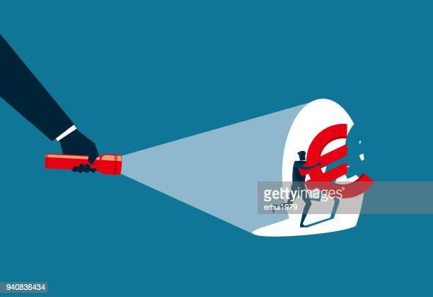 stealing - crime - flashlight beam stock illustrations, clip art, cartoons, & icons