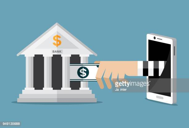 stealing money - bank financial building stock illustrations, clip art, cartoons, & icons