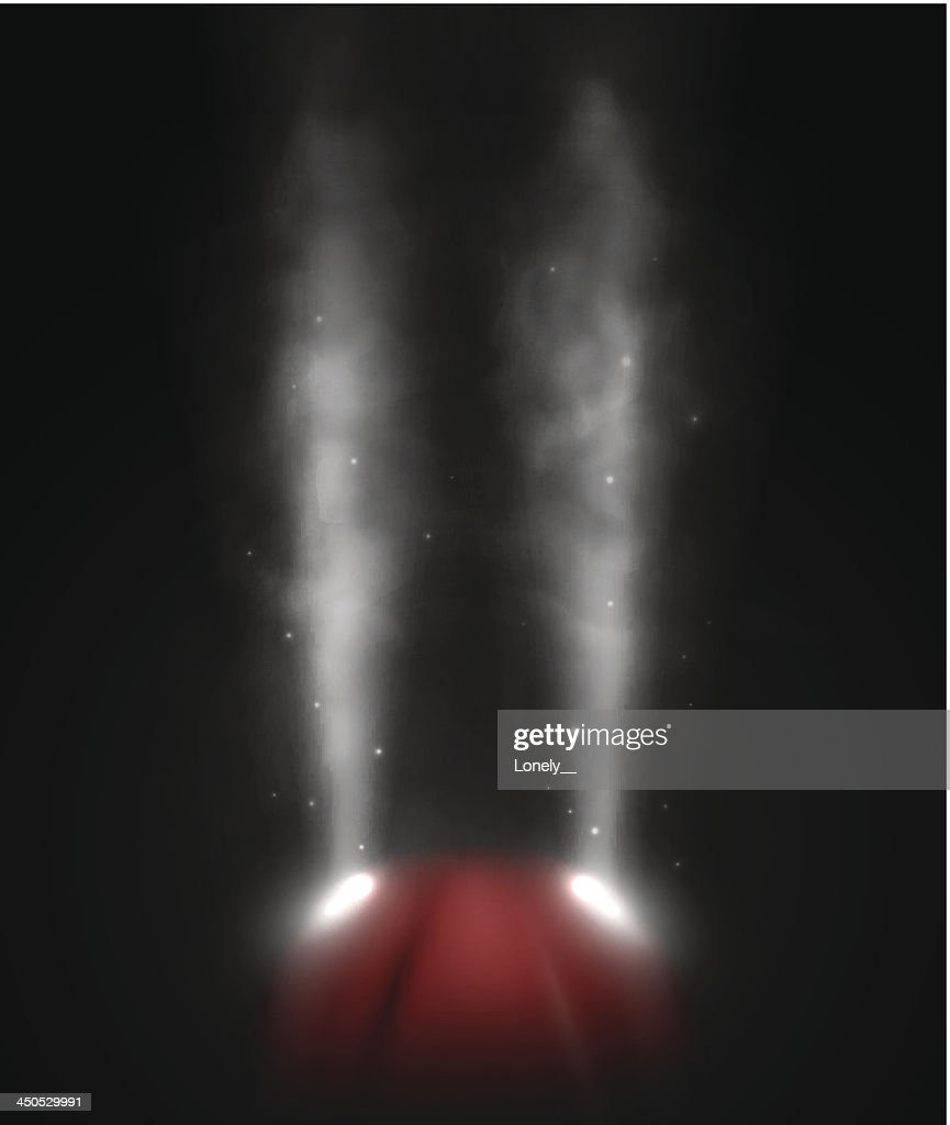 Steam or fog escaping a red base on a black background