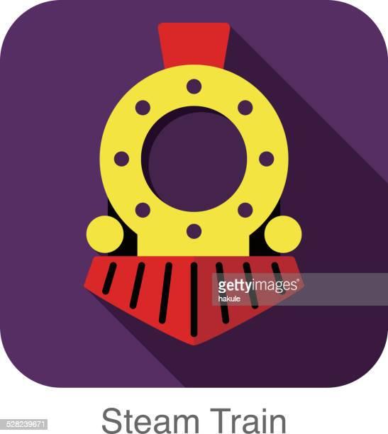 Steam train flat icon