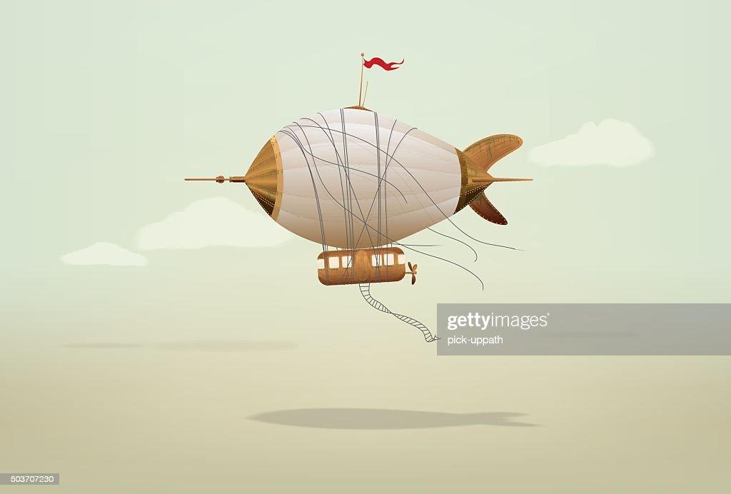 Steampunk Blimp Airship
