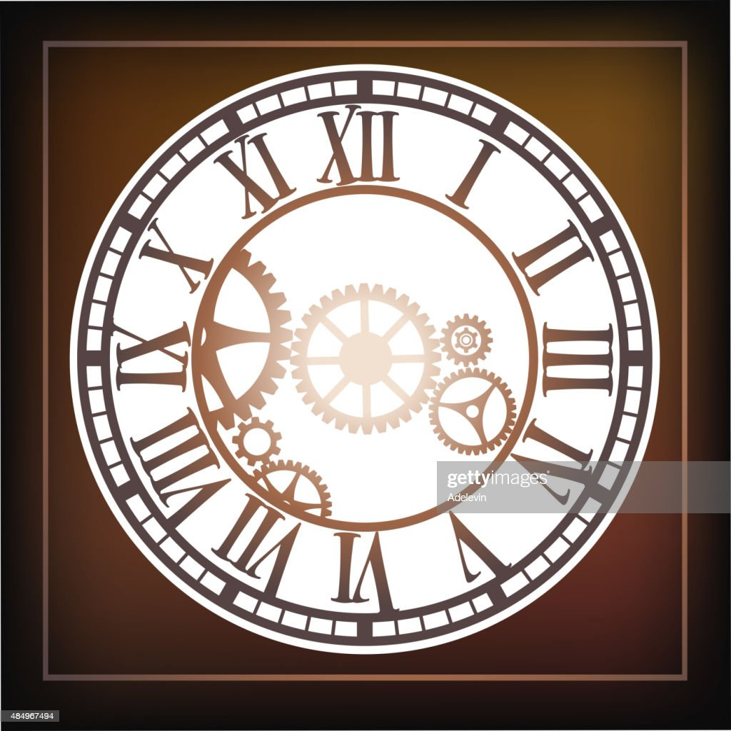 Steampunk Clock Vector Art | Getty Images