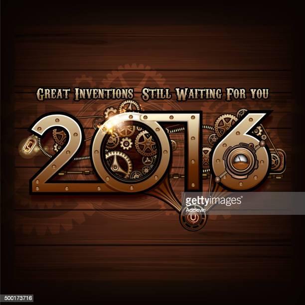 steampunk concept 2016 - 2016 stock illustrations, clip art, cartoons, & icons