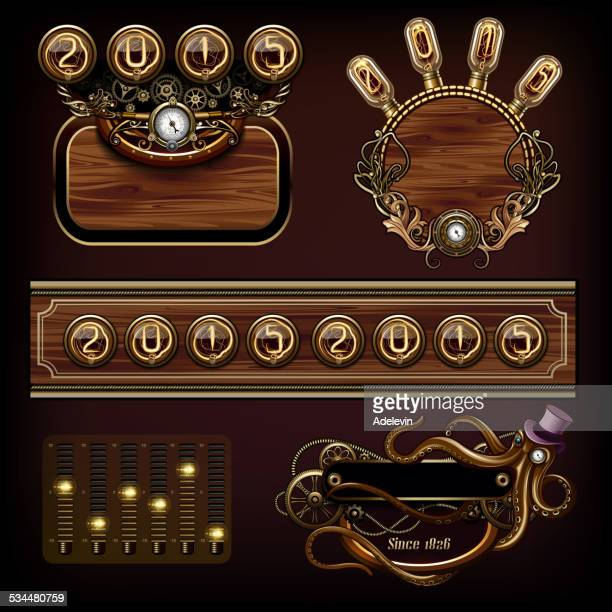 steampunk concepts - steampunk stock illustrations