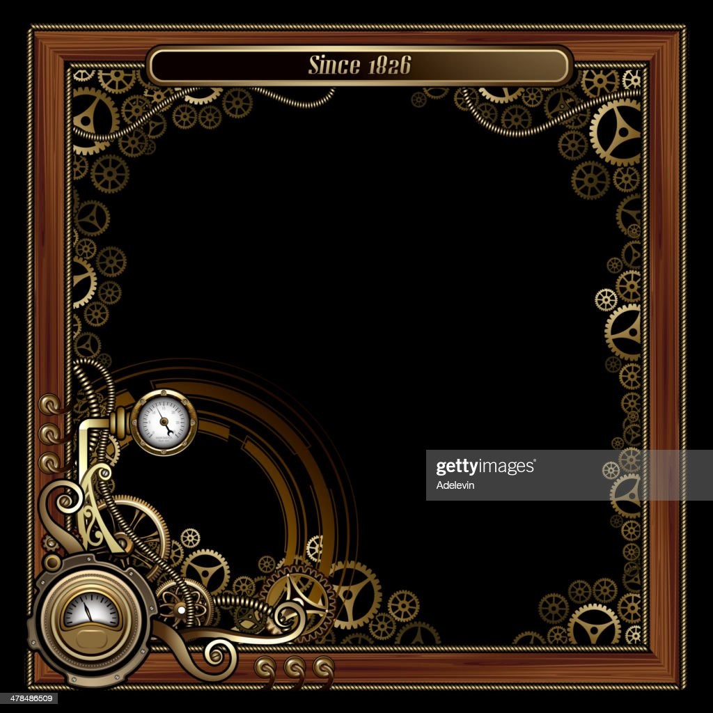Steampunk Frame Concept Vector Art | Getty Images