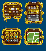 Steampunk Game User Interface Pack