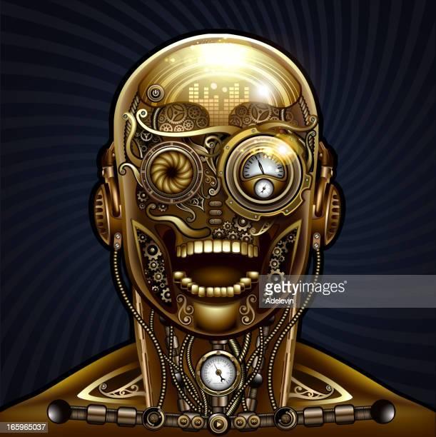 steampunk human - steampunk stock illustrations