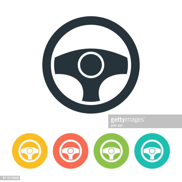 stearing wheel icon - steering wheel stock illustrations