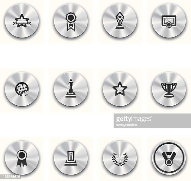 steel awards and prizes buttons - best in show stock illustrations